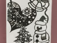 クリスマス-切り絵
