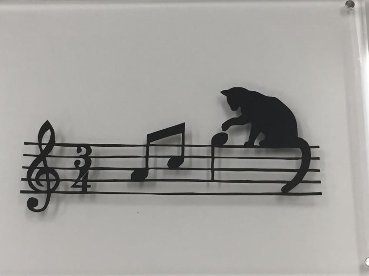ネコ-音符