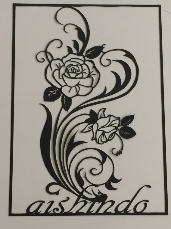 H29.07.31-薔薇-切り絵-1