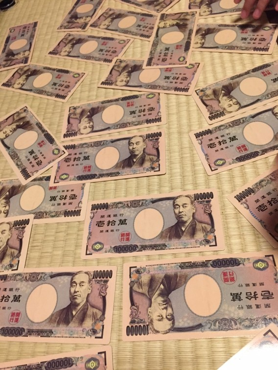 一万円札トランプ
