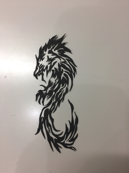 龍-切り絵-ミニ