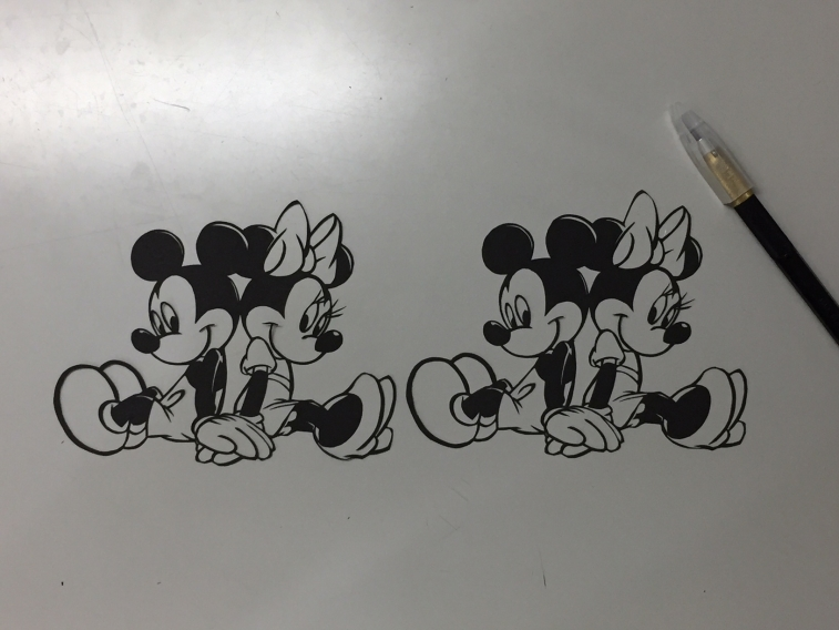 mickey-切り絵-2